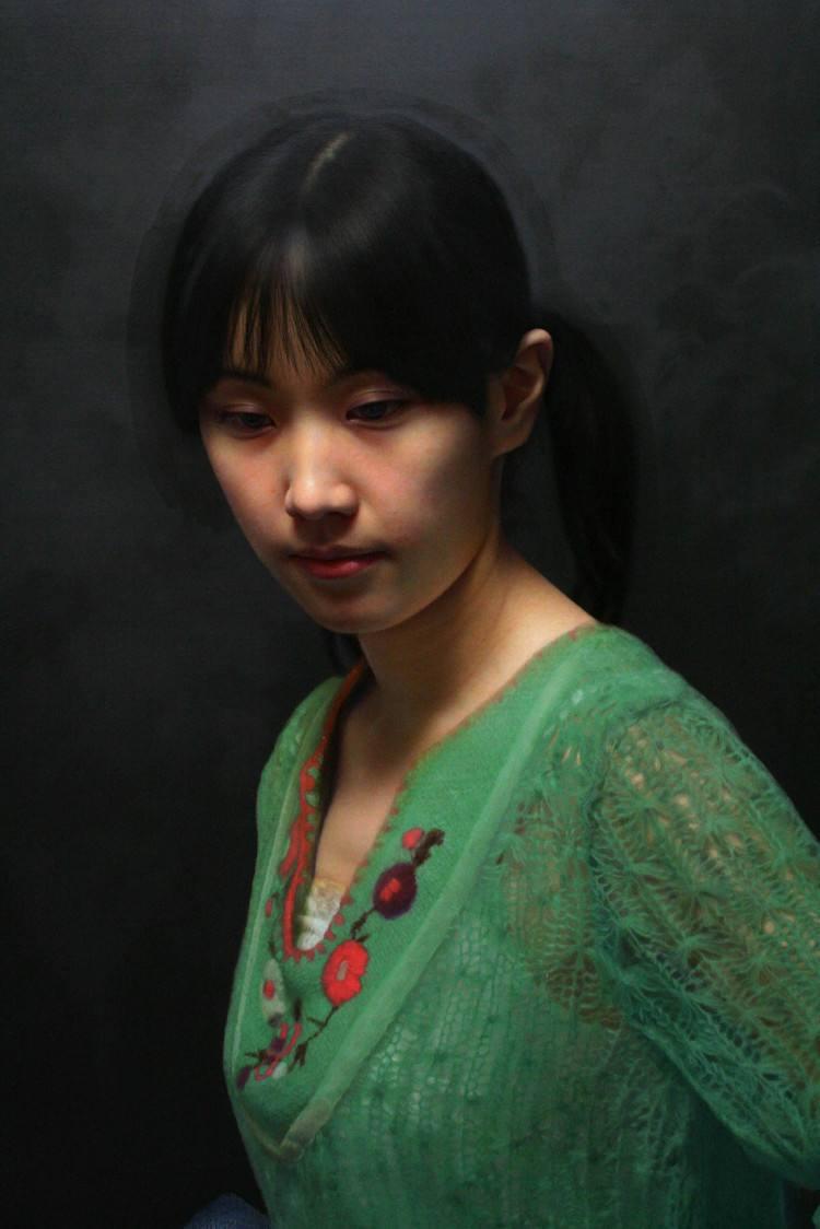 冷军《肖像之相-小姜》120X60cm 2011年 布面油画