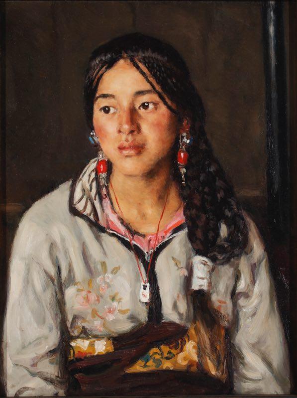 杨飞云《甘南藏女 》61x46cm 2007年 布面油画