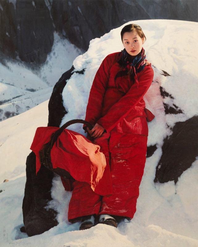 王沂东《阳光和我同行》180x145cm 2006年 布面油画